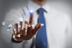 Technologies de mise en réseau et interaction sociale Images libres de droits