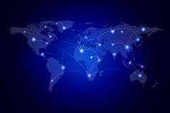 Technologies de réseau se reliant d'affaires du monde Image libre de droits