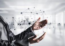 Technologies du sans fil en tant que moyens de communication d'affaires image stock