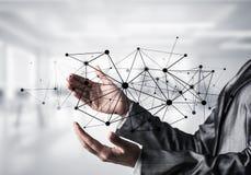 Technologies du sans fil en tant que moyens de communication d'affaires image libre de droits