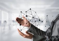 Technologies du sans fil en tant que moyens de communication d'affaires images libres de droits