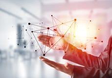 Technologies du sans fil en tant que moyens de communication d'affaires photo stock