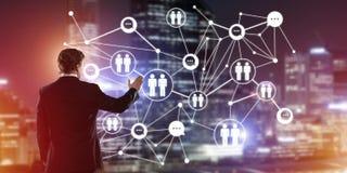 Technologies du sans fil et mise en réseau modernes comme outil pour des affaires efficaces Image stock