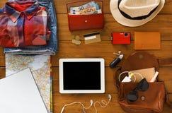 Technologies et concept modernes de voyage Images libres de droits