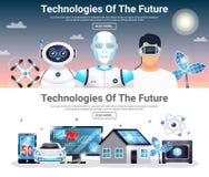 Technologies Of Future Horizontal Banners Stock Image