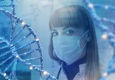 Technologies innovatrices en science et médecine éléments de l'illustration 3D en collage Images stock