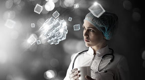 Technologies innovatrices en science et médecine Photo stock