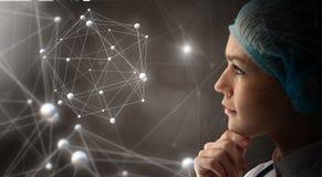 Technologies innovatrices en science et médecine images stock