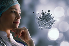 Technologies innovatrices en science et médecine Media mélangé Photo libre de droits