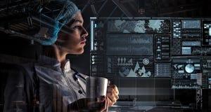 Technologies innovatrices en science et médecine Media mélangé Photo stock