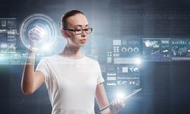 Technologies innovatrices en service Images libres de droits