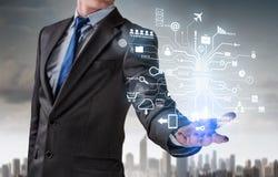 Technologies innovatrices pour des affaires réussies Media mélangé Images stock