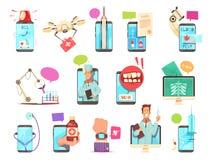 Technologies médicales de santé de Digital réglées illustration libre de droits