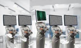 Technologies modernes contre les vieilles Photo stock