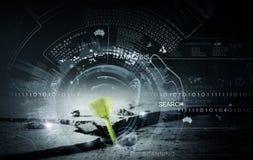 Technologies modernes pendant la nouvelle vie Photos libres de droits
