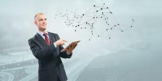 Technologies modernes pour des affaires Media mélangé images stock