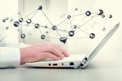 Technologies modernes pour la connexion Media mélangé Image stock