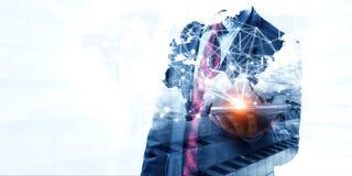 Technologies pour des affaires globales Media mélangé image libre de droits