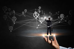 Technologies pour la connexion de personnes Media mélangé Photo libre de droits