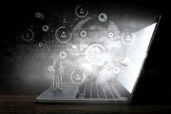 Technologies pour la connexion Media mélangé illustration libre de droits