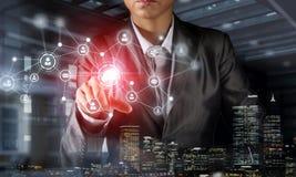 Technologies qui relient ce monde Images stock