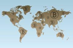 Technologies reliées fonctionnantes mondiales de blockchain illustration libre de droits