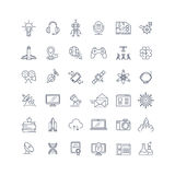 Technologies and science vector line icons vector illustration