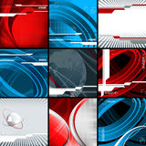 Technologies vector backgrounds set. Eps10 Stock Photography