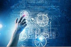 Technologies virtuelles Photographie stock