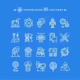Technologies White Icons Stock Photo
