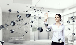 Technologies for work and connection . Mixed media Royalty Free Stock Photography