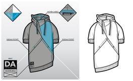 Technologieskizze eines Sweatshirts Stockbilder