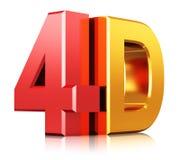 Technologiesymbol des Kinos 4D Lizenzfreie Stockfotos