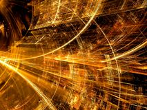 Technologietunnel - abstract digitaal geproduceerd beeld Royalty-vrije Stock Afbeelding