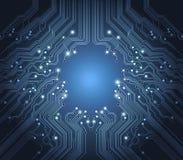 Technologievektorauszugs-Blauhintergrund Lizenzfreies Stockfoto