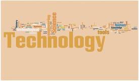 Technologiewortwolke Stockbild