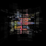 Technologii abstrakcjonistyczna ciemna retro tekstura Fotografia Royalty Free