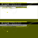 technologii abstrakcjonistyczna eksperymentalna typografia Obrazy Royalty Free