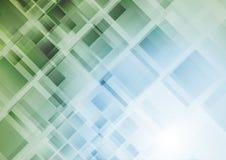 Technologii abstrakcjonistyczny geometryczny tło z kwadratami ilustracji