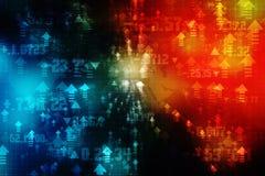 Technologii Abstrakcjonistyczny tło, futurystyczny tło, cyberprzestrzeni pojęcie Obrazy Royalty Free