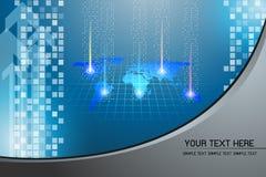 Technologii Abstrakcjonistyczny tło z siatką 3 Zdjęcie Stock