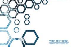 Technologii Abstrakcjonistyczny tło z siatką 6 Zdjęcie Royalty Free