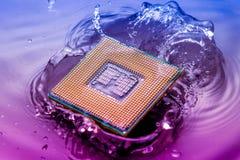Technologii cyber elektroniczny pojęcie jednostka centralna baranu komputerowy spadek w Zdjęcie Royalty Free