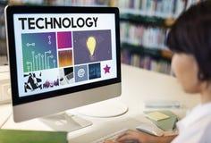 Technologii cyberprzestrzeni sieci pojęcie Obrazy Royalty Free