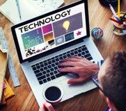 Technologii cyberprzestrzeni sieci pojęcie Zdjęcia Stock