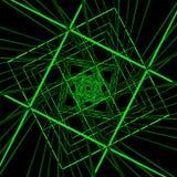 Technologii cyberprzestrzeni Zielona ilustracja Obraz Royalty Free