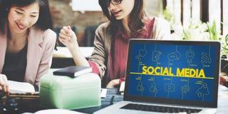 Technologii Cyfrowej komunikaci połączenie z internetem pojęcie Obraz Royalty Free