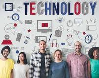 Technologii Cyfrowej komunikaci przyrządu Multimedialny pojęcie Obrazy Stock