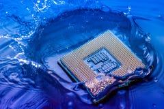 Technologii elektroniczny pojęcie jednostka centralna baranu komputerowy spadek w Obraz Royalty Free