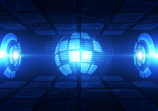 Technologii futurystyczny cyfrowy Technologia związek technologia globalny system abstrakcyjny tło wektor Obrazy Stock